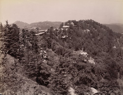 Simla from the crags.